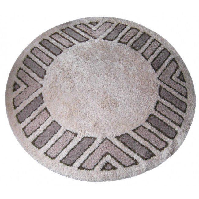 Polar Sola circular rug by Hojer Eksport of Denmark
