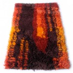 Ege Rya Gallery rug with abstract midcentury design