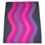 Geometric waves fabric pink-purple spectrum