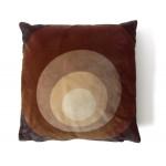 Velour cushion with Panton-style spectrum design