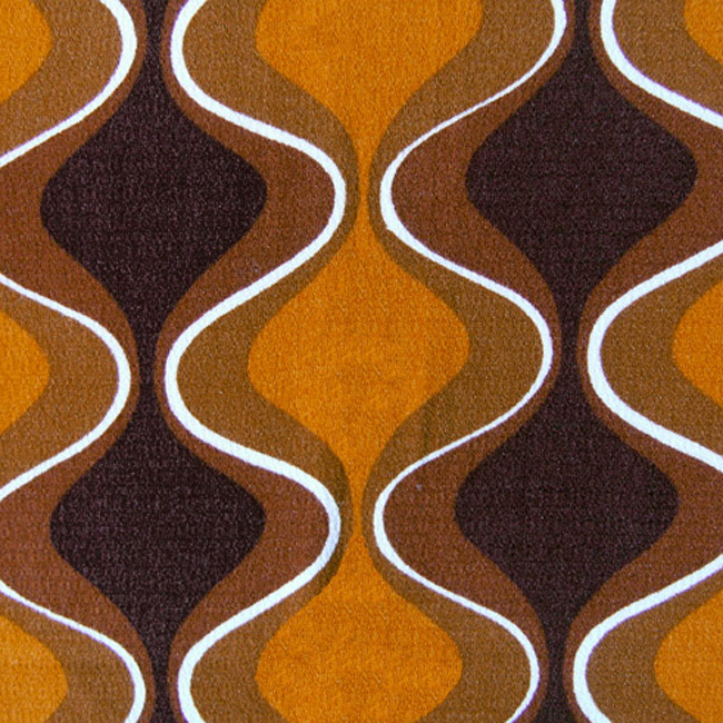 Crêpe textile with onion pattern in orange and browns