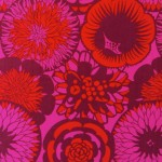 Vintage fabric from Sweden with floral design
