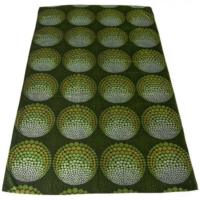 Panton-like green spectrum geometric circles textile