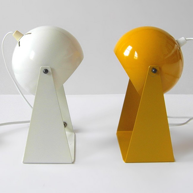Ball lamps with triangular frames 1960s/1970s