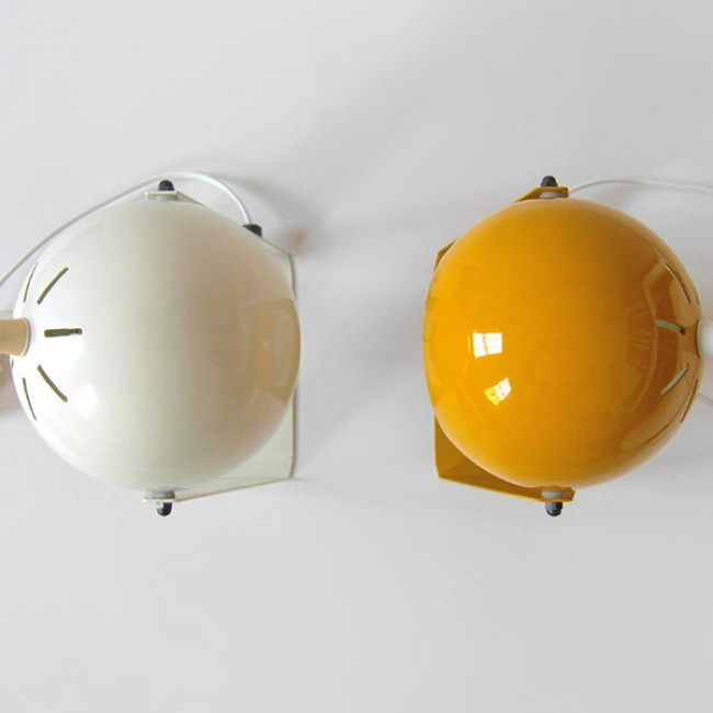 Ball Lamps With Triangular Frames 1960s 1970s
