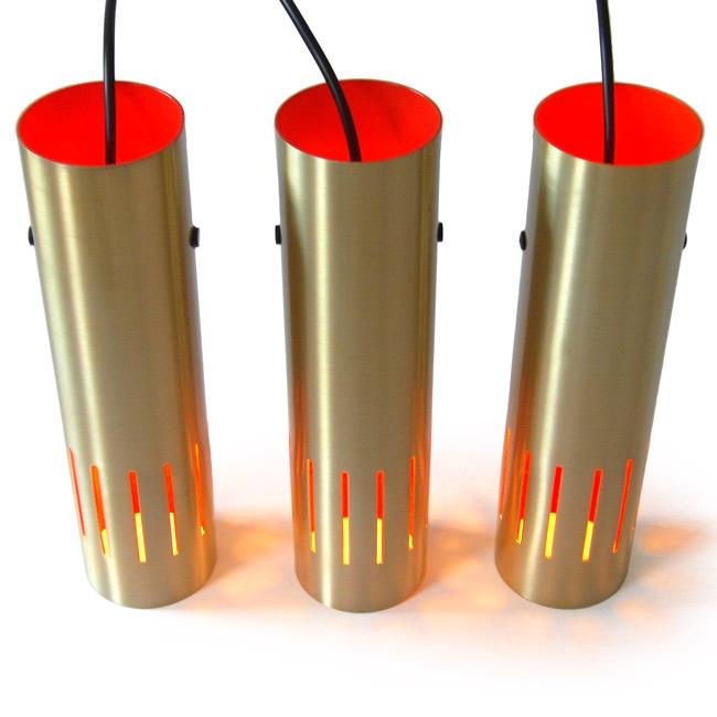 Vintage Danish Jo Hammerborg-style cylinder light