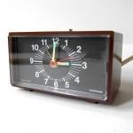 Vintage Westclox luminous electric alarm clock