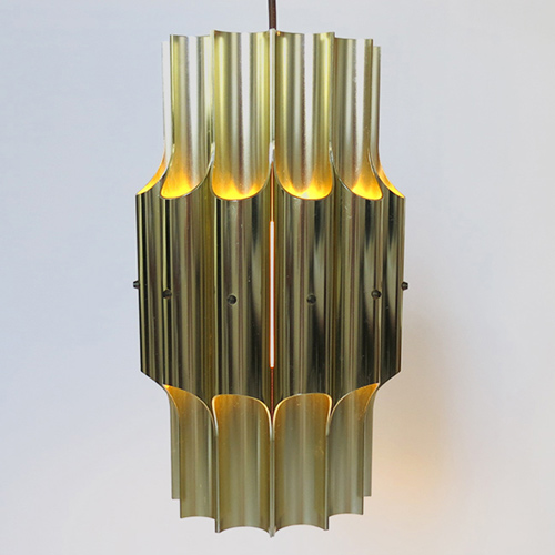 Bent Karlby Lyfa brass Pan pendant light